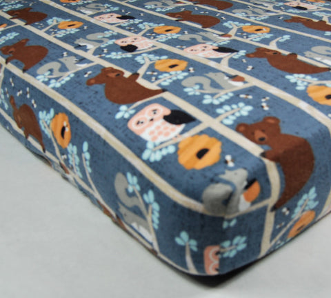 Bear Crib Sheet - Cotton Flannel Crib Sheet