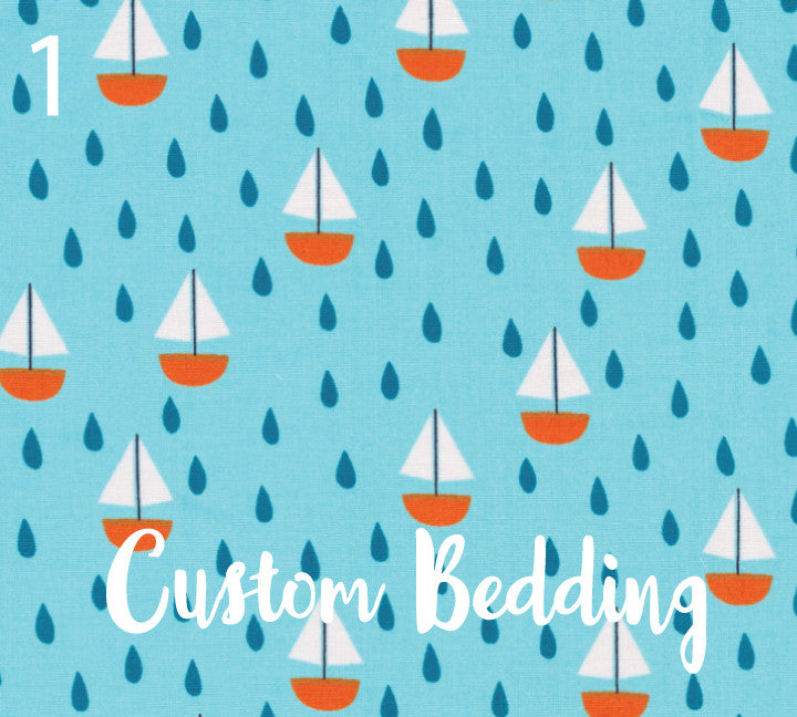 Custom Organic Crib Sheets - CHOOSE YOUR FABRIC