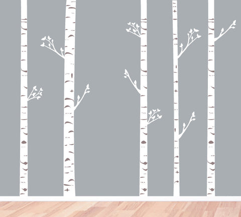 BirchTree Fabric Wall Decals - Birch Trees with Branches