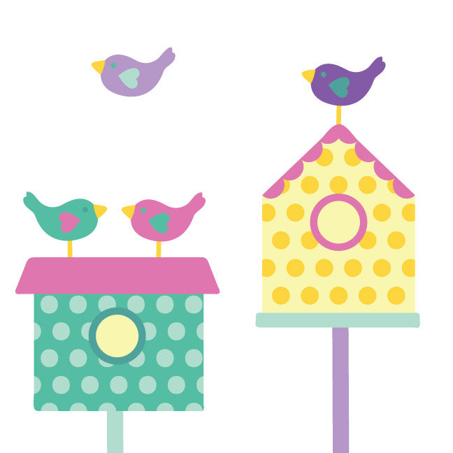 Birdhouse Fabric Wall Decals