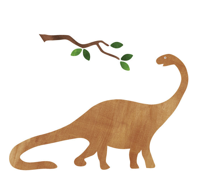 Brontosaurus Wall Decals - Dinosaur Fabric Wall Decals Medium
