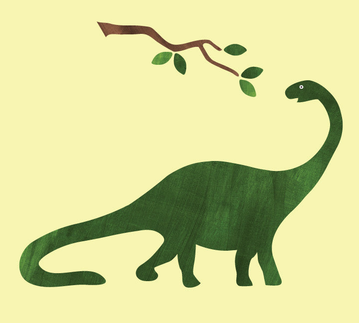 Brontosaurus Wall Decals - Dinosaur Fabric Wall Decals Large