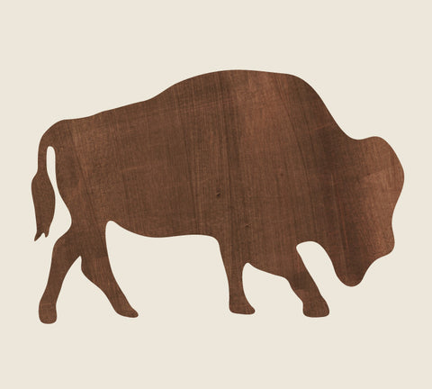 Buffalo Wall Decal - Watercolor Buffalo Decal
