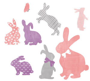 Bunny Watercolor Fabric Wall Decals