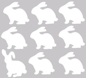 Bunny Wall Decals - Bunny Fabric Wall Decals