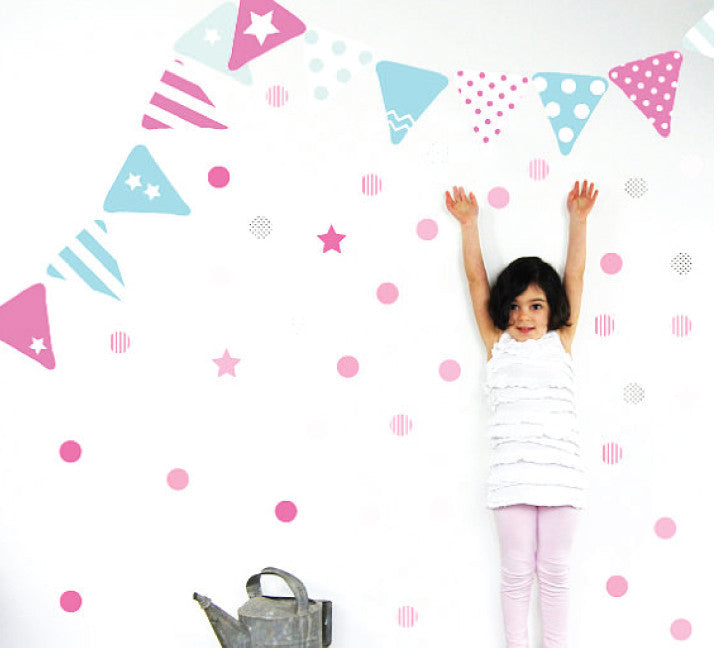 Bunting Fabric Wall Decal Set
