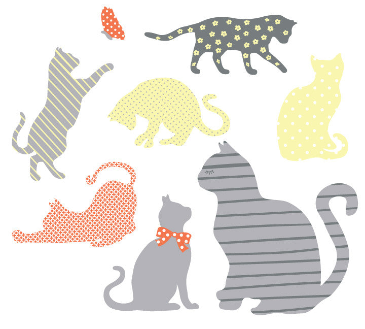 Cat Fabric Wall Decals