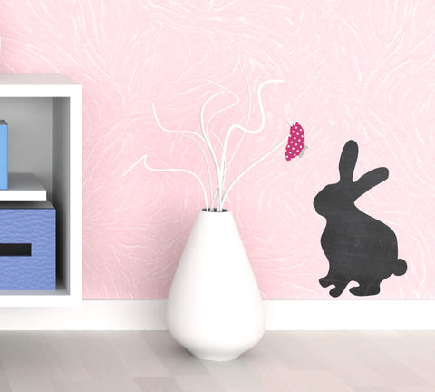 Chalkboard Bunny Decal - Eco Friendly Chalkboard Decal