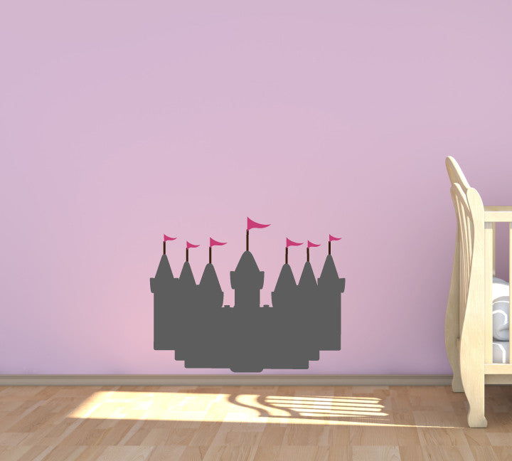 Chalkboard Castle Decal - Eco Friendly Chalkboard Decal