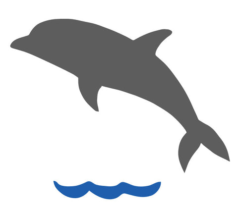 Chalkboard Dolphin Wall Decal - Eco Friendly Chalkboard Decal