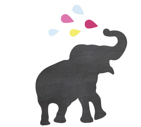Chalkboard Elephant Decal - Eco Friendly Chalkboard Decal
