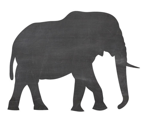 Chalkboard Elephant Wall Decal - Eco Friendly Chalkboard Wall Decal