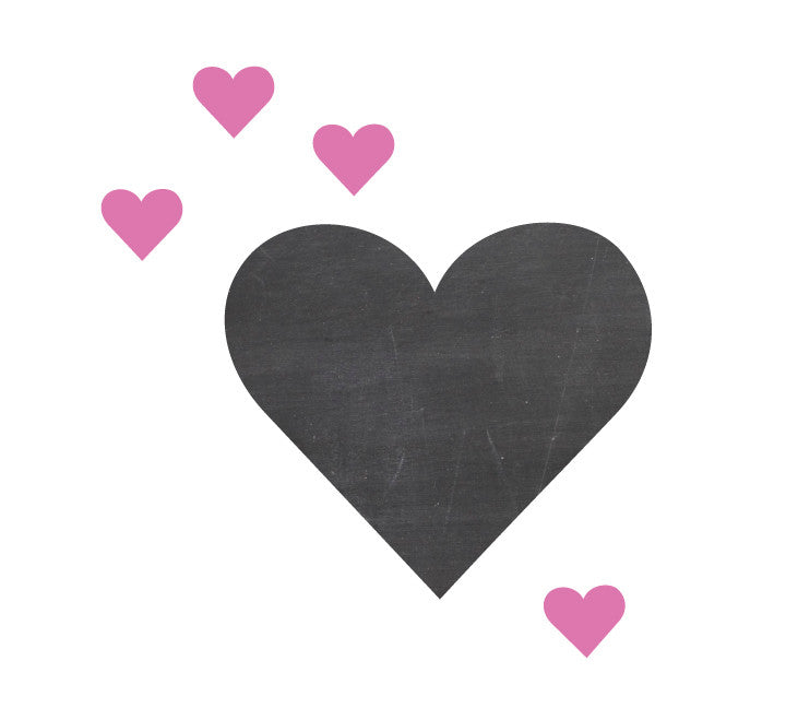 Chalkboard Heart Wall Decal - Heart Chalkboard Decal