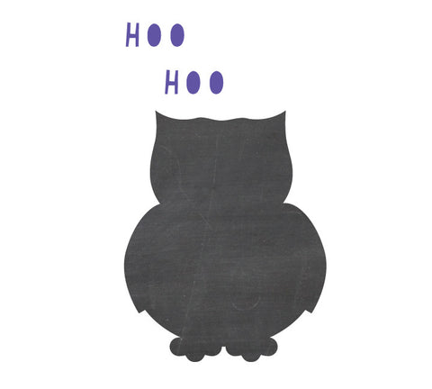 Chalkboard Owl Decal - Eco Friendly Chalkboard Decal