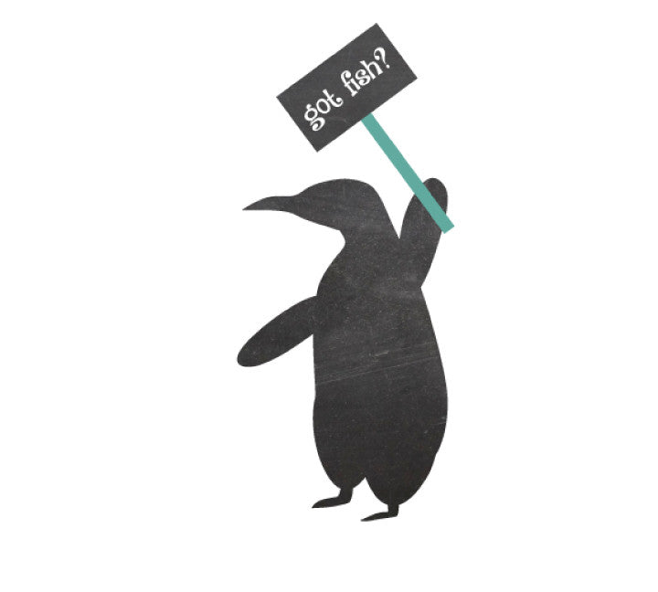 Chalkboard Penguin Wall Decal - Eco Friendly Chalkboard Decal