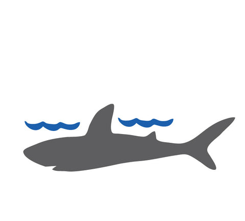 Chalkboard Shark WallDecal - Eco Friendly Chalkboard Wall Decal