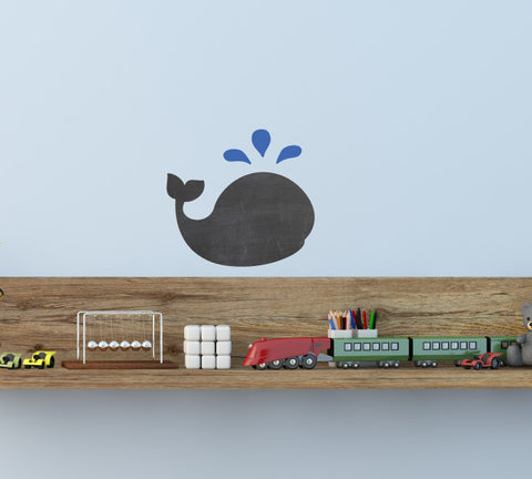 Chalkboard Whale Wall Decal - Eco Friendly Chalkboard Decal