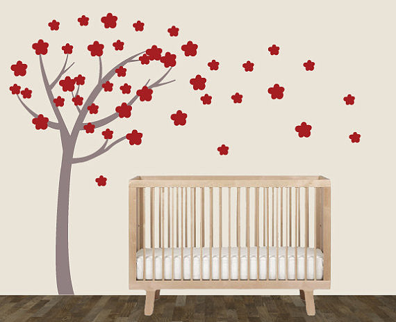 Cherry Blossom Tree Fabric Wall Decals