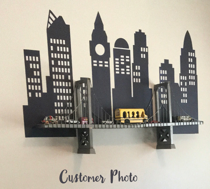 Cityscape Wall Decal - Fabric Eco Wall Decals