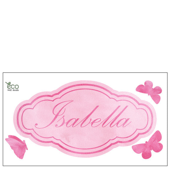 Custom Name Fabric Wall Decals