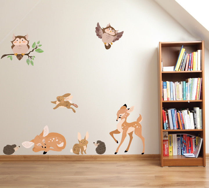 Woodland Animal Wall Decals - Forest Family Fabric Wall Decals