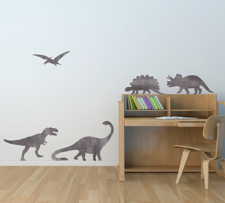 Dinosaur Wall Decals   Watercolor Dinosaur Fabric Wall Decals