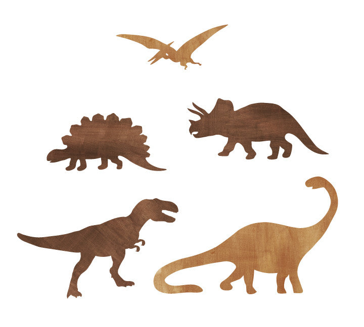 Dinosaur Wall Decals - Watercolor Dinosaur Fabric Wall Decals