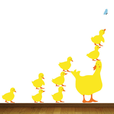 Duck Family Wall Decals, Fabric Wall Stickers
