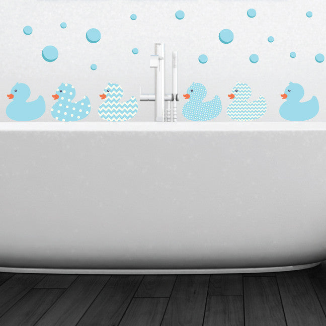 Duck Bathtime Fabric Wall Decals