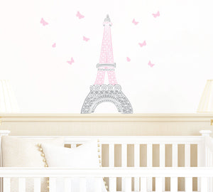 Eiffel Tower Wall Decal - Paris Fabric Wall Decal