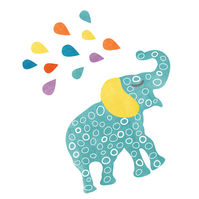 Elephant Watercolor Fabric Wall Decal Small