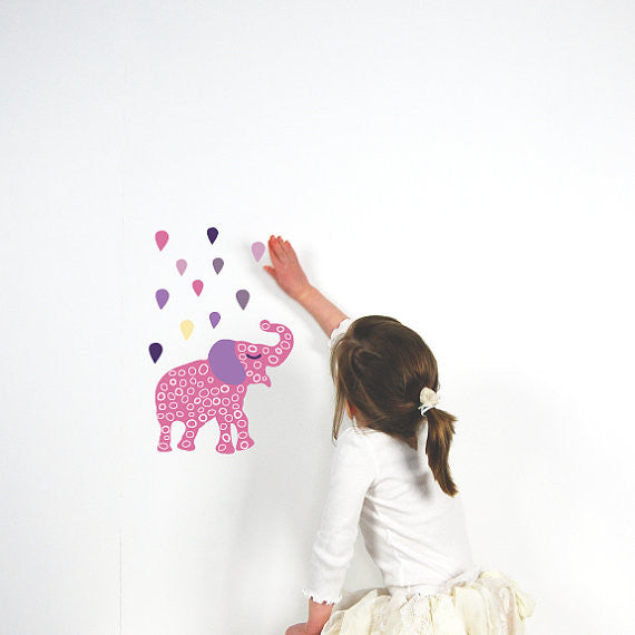Elephant Fabric Wall Decal Small