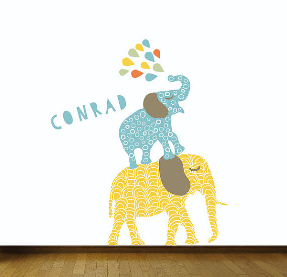 Elephant Wall Decal   Jungle Elephant Fabric Wall Decals