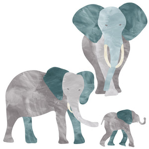 Elephant Wall Decal - Jungle Elephant Fabric Wall Decals