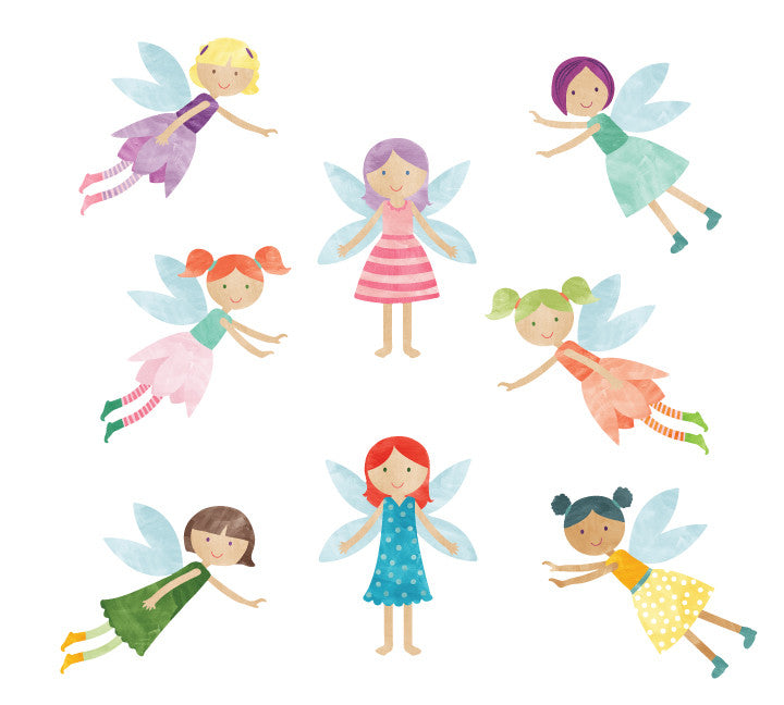 Fairy Wall Decals - Watercolor Fairies