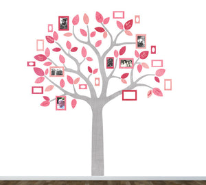 Family Tree Fabric Wall Decals - Tree and Photo Frame Wall Decals