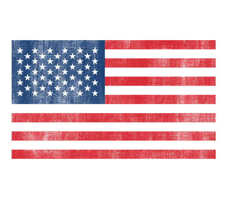 Flag Fabric Wall Decals Large - Flag in Watercolor