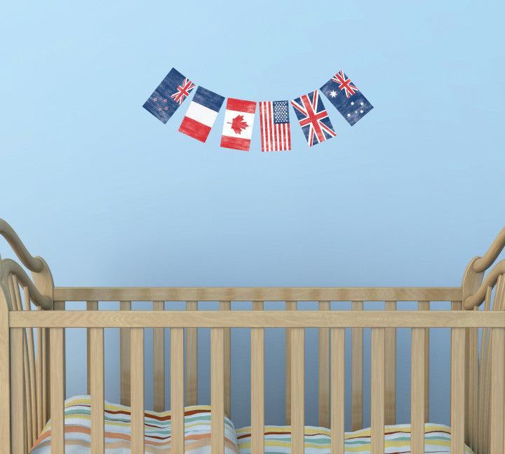 Flag Wall Decals - Flag Banner Fabric Wall Decals