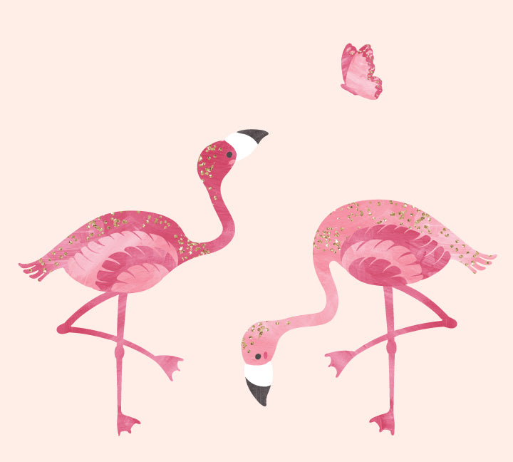 Flamingo Wall Decals - Bird Fabric Wall Decals