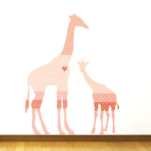 Giraffe Fabric Wall Decal