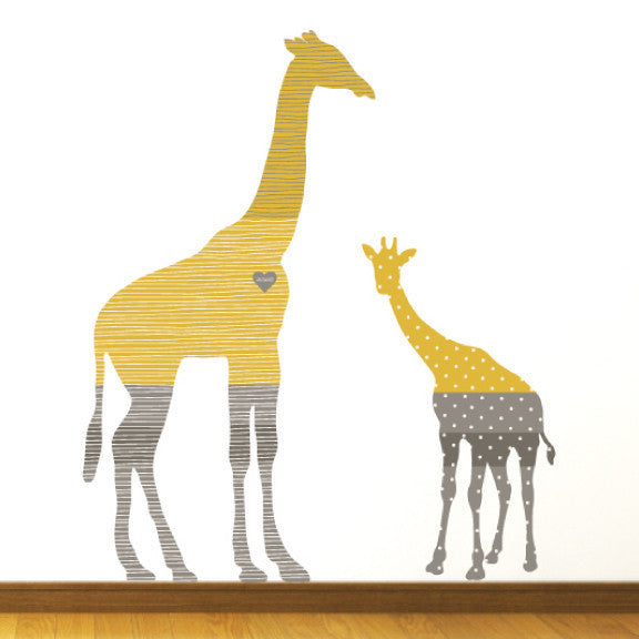 Giraffe Fabric Wall Decals  Stickers From Eco Wall Decals Eco - Yellow wall decals