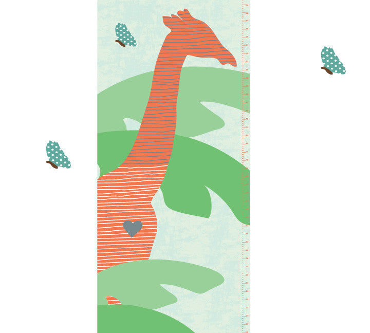 Growth Chart Giraffe Growth Chart Wall Decals Eco Wall Decals