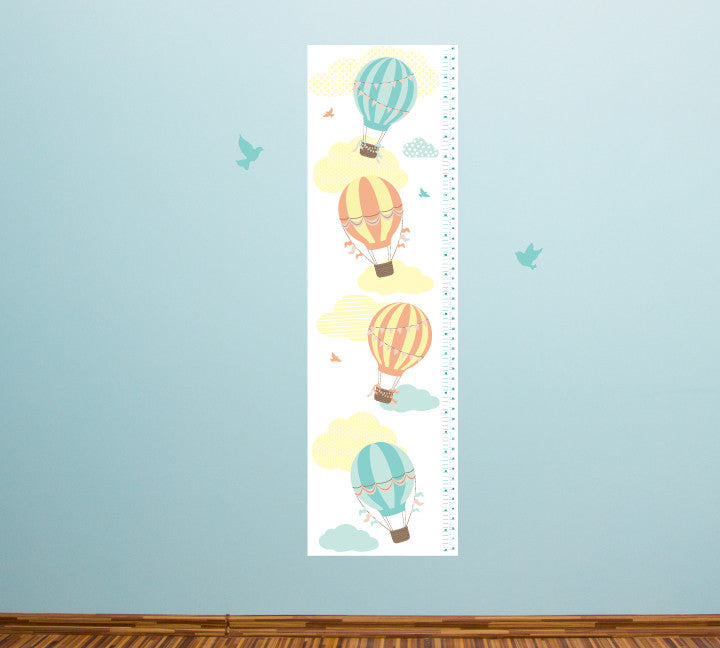 Growth Chart Hot Air Balloons - Growth Chart Wall Decals
