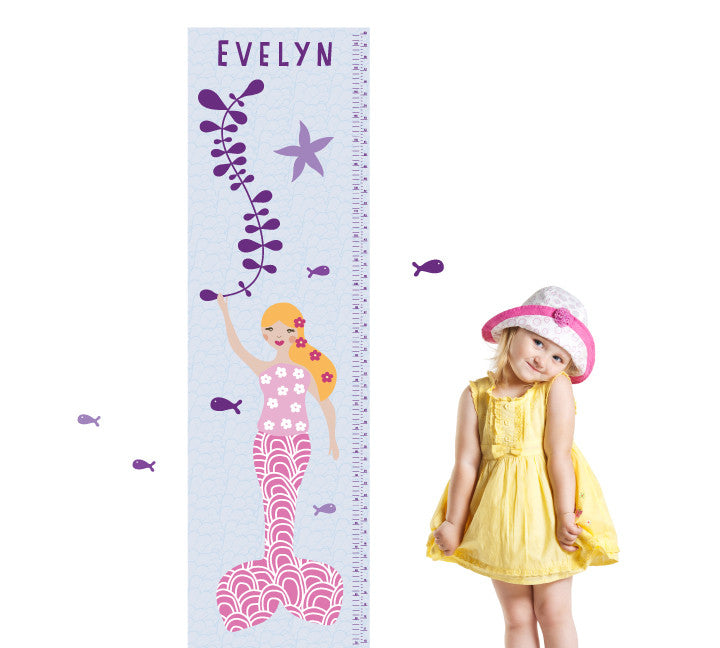 Growth Charts Mermaid Growth Chart Wall Decals Eco Wall Decals