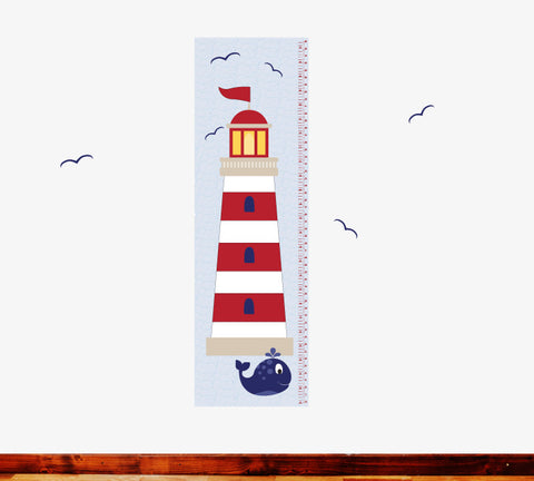 Growth Chart Nautical- Growth Chart Wall Decals