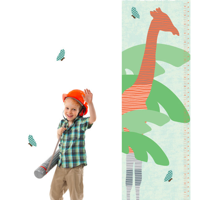 Growth Chart Giraffe- Growth Chart Wall Decals