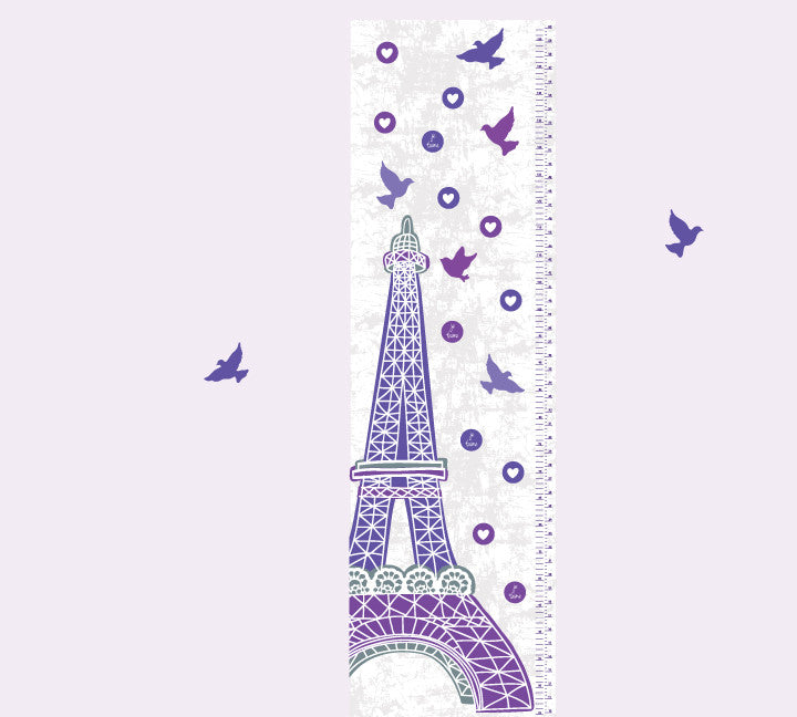 Growth Chart Eiffel Tower Growth Chart Wall Decals Eco Wall Decals