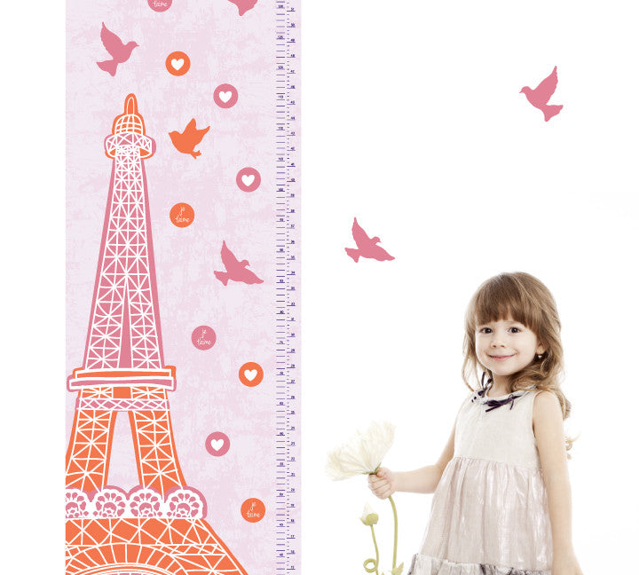 growth chart eiffel tower growth chart wall decals