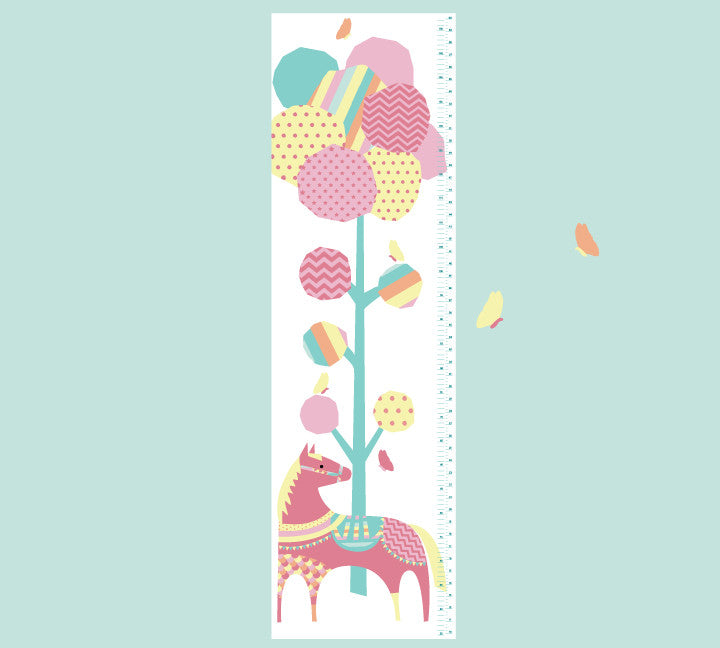 Growth Chart Tree and Pony - Growth Chart Wall Decals