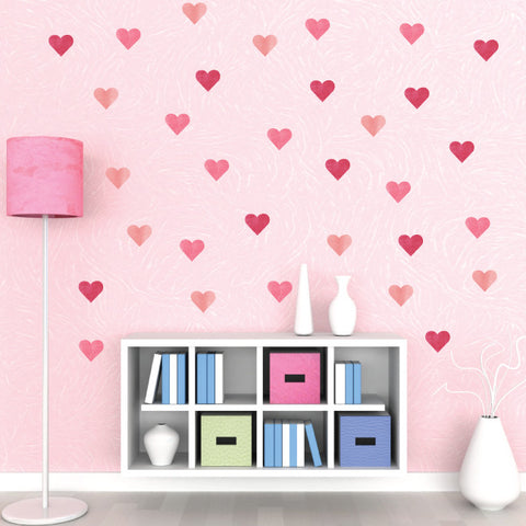 Heart Wall Decals in Watercolor